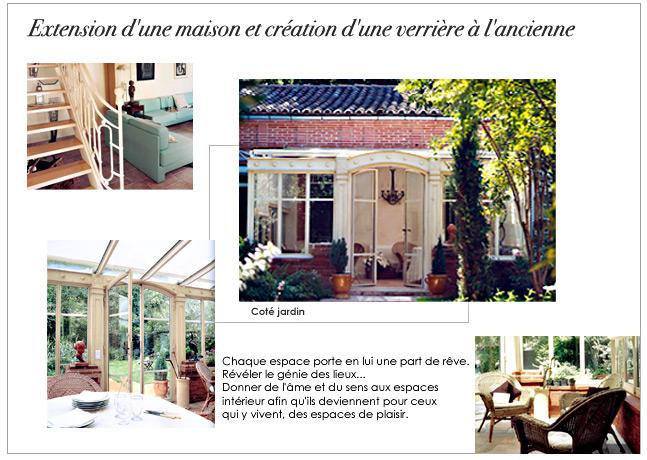 Architecture et d coration d 39 int rieur verriere l 39 ancienne - Creation verriere interieur ...