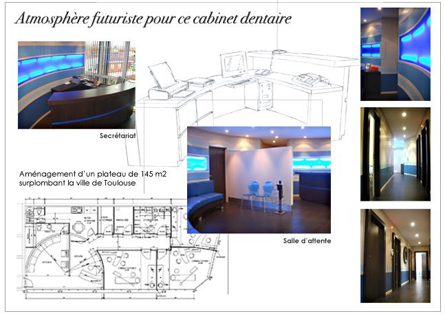 architecture et d coration d 39 int rieur cabinet dentaire. Black Bedroom Furniture Sets. Home Design Ideas